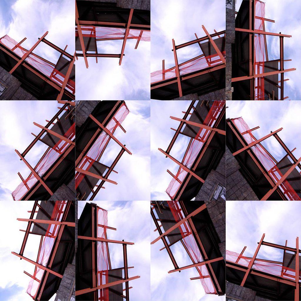"""Buildings2010_17B"", 2015 - 125 x 125 cm"