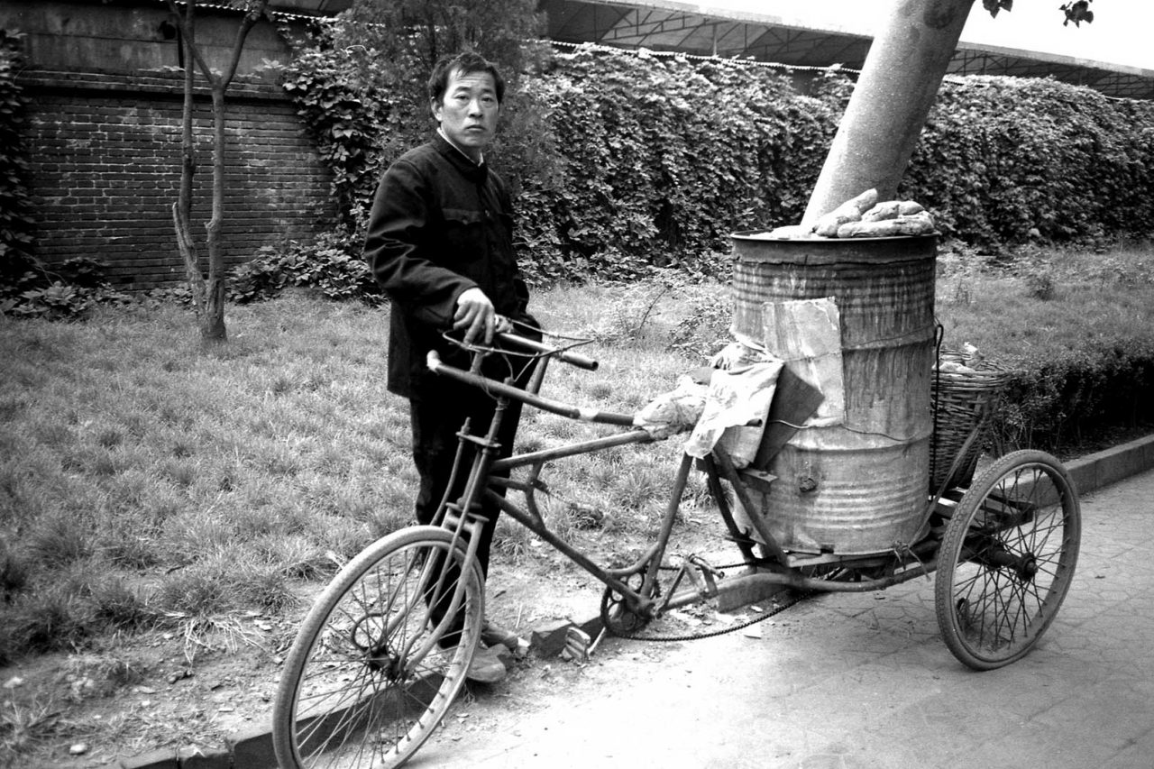 """Potatoes bike man"", Beijing, 1998"